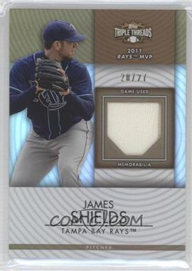 2012 Topps Triple Threads Unity Relics Sepia #TTUR-198 - James Shields /27