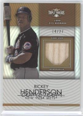 2012 Topps Triple Threads Unity Relics Sepia #TTUR-33 - Rickey Henderson /27