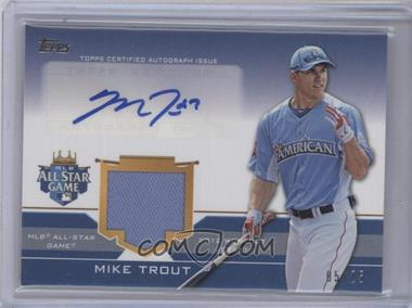 2012 Topps Update Series All-Star Stitches Autographed Relics #ASAR-MIT - Mike Trout /25