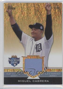 2012 Topps Update Series All-Star Stitches Gold #AS-MIC - Miguel Cabrera /50