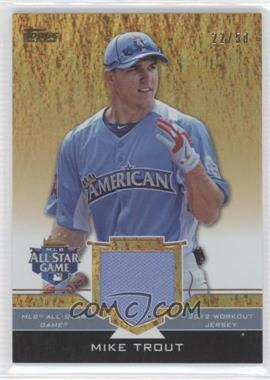 2012 Topps Update Series All-Star Stitches Gold #AS-MIT - Mike Trout /50