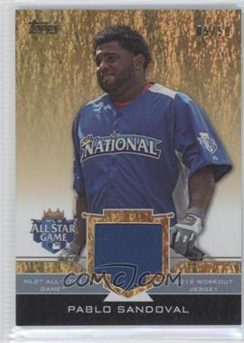 2012 Topps Update Series All-Star Stitches Gold #AS-PS - Pablo Sandoval /50