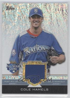 2012 Topps Update Series All-Star Stitches Relics Platinum #AS-CH - Cole Hamels /1