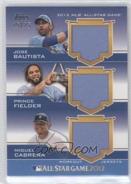 2012 Topps Update Series All-Star Stitches Triple Relics #AST-BFC - Prince Fielder /25