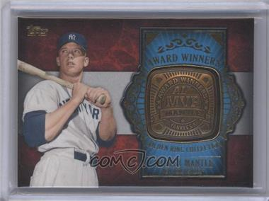 2012 Topps Update Series Award Winners Golden Ring Collection #GAR-MM - Mickey Mantle