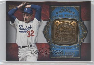 2012 Topps Update Series Award Winners Golden Ring Collection #GAR-SK - Sandy Koufax