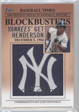 2012 Topps Update Series Blockbusters Hat Logo Patch #BP-11 - Rickey Henderson