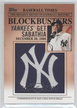 2012 Topps Update Series Blockbusters Hat Logo Patch #BP-2 - C.C. Sabathia