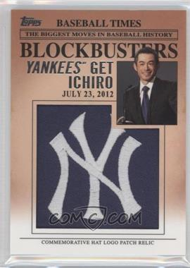 2012 Topps Update Series Blockbusters Hat Logo Patch #BP-23 - Ichiro Suzuki