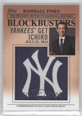 2012 Topps Update Series Blockbusters Hat Logo Patch #BP-23 - Ichiro Suzuki