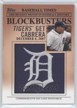 2012 Topps Update Series Blockbusters Hat Logo Patch #BP-8 - Miguel Cabrera