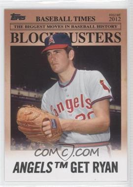 2012 Topps Update Series Blockbusters #BB-9 - Nolan Ryan