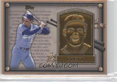 2012 Topps Update Series Commemorative Gold Hall of Fame Plaques #HOF-GB - George Brett