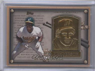 2012 Topps Update Series Commemorative Gold Hall of Fame Plaques #HOF-RH - Rickey Henderson