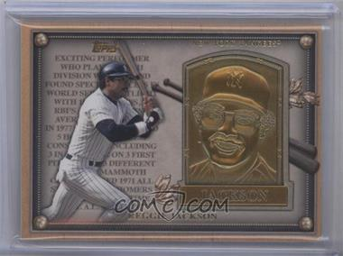 2012 Topps Update Series Commemorative Gold Hall of Fame Plaques #HOF-RJ - Reggie Jackson