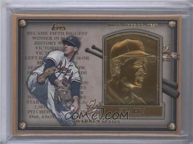 2012 Topps Update Series Commemorative Gold Hall of Fame Plaques #HOF-WS - Warren Spahn