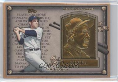 2012 Topps Update Series Commemorative Gold Hall of Fame Plaques #HOF-YB - Yogi Berra