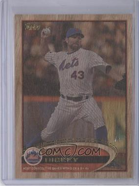 2012 Topps Update Series Wood #US141 - R.A. Dickey /1