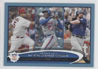 2012 Topps Wal-Mart [Base] Blue Border #124 - Albert Pujols, Vladimir Guerrero, Todd Helton