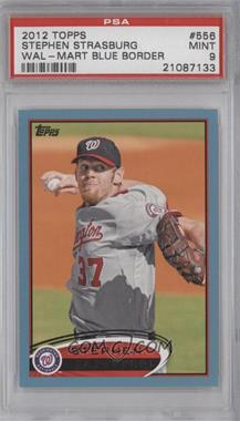 2012 Topps Wal-Mart [Base] Blue Border #556 - Stephen Strasburg [PSA 9]