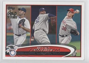 2012 Topps Wrapper Redemption [Base] Gold Rush #319 - Justin Verlander, C.C. Sabathia