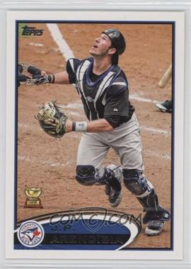 2012 Topps #207.1 - J.P. Arencibia (Mask Off)