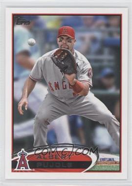 2012 Topps #331.3 - Albert Pujols (Catching)