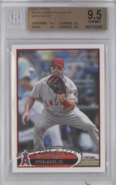 2012 Topps #331.3 - Albert Pujols (Catching) [BGS 9.5]