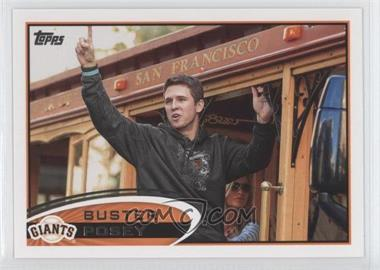 2012 Topps #398.2 - Buster Posey (On Railcar)