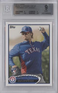 2012 Topps #660.3 - Yu Darvish (Sunglasses) [BGS 9]