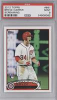 Bryce Harper (White Jersey, Excited) [PSA 9]