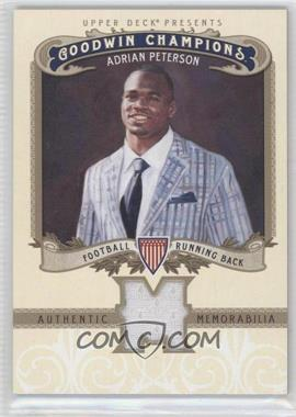 2012 Upper Deck Goodwin Champions Authentic Memorabilia #M-AP - Adrian Peterson