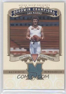 2012 Upper Deck Goodwin Champions Authentic Memorabilia #M-DM - Dan Marino