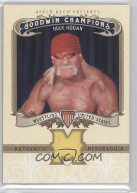 2012 Upper Deck Goodwin Champions Authentic Memorabilia #M-HH - Hulk Hogan