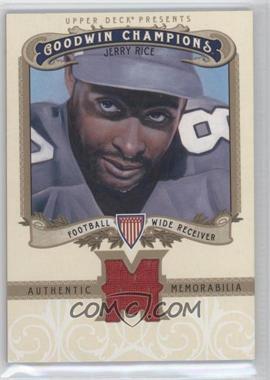2012 Upper Deck Goodwin Champions Authentic Memorabilia #M-JR - Jerry Rice