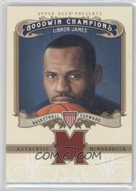 2012 Upper Deck Goodwin Champions Authentic Memorabilia #M-LJ - LeBron James