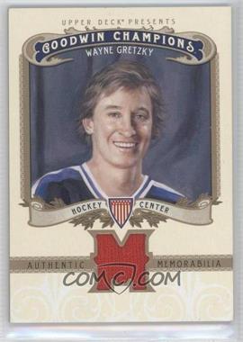 2012 Upper Deck Goodwin Champions Authentic Memorabilia #M-WG - Wayne Gretzky