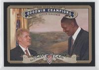 Hakeem Olajuwon (horizontal variation with Bill Clinton)