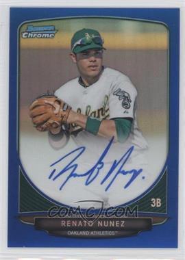 2013 Bowman - Chrome Prospects Autographs - Blue Refractor #BCP-RN - Renato Nunez /150