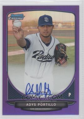 2013 Bowman - Chrome Prospects Autographs - Purple Refractor #BCA-AP - Adys Portillo /10