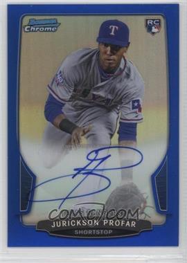 2013 Bowman - Chrome Rookie Autographs - Blue Refractor #ACR-JP - Jurickson Profar /250
