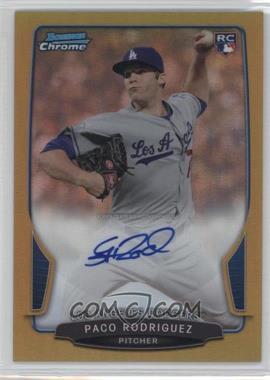 2013 Bowman - Chrome Rookie Autographs - Gold Refractor #ACR-PR - Paco Rodriguez /50