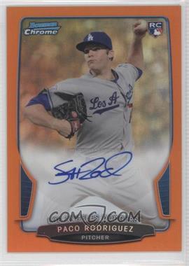 2013 Bowman - Chrome Rookie Autographs - Orange Refractor #PR - Paco Rodriguez /25