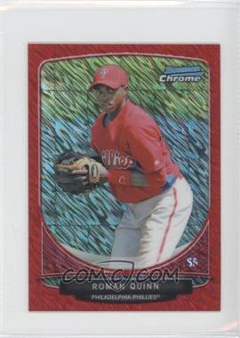 2013 Bowman - Cream of the Crop Chrome Mini Refractor - Red Wave #CC-PP4 - Roman Quinn /5