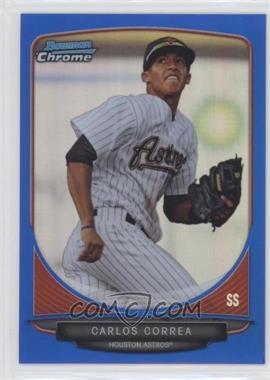 2013 Bowman - Prospects Chrome - Blue Refractor #BCP100 - Carlos Correa /250