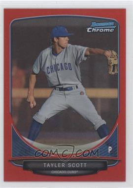 2013 Bowman - Prospects Chrome - Red Refractor #BCP8 - Tayler Scott /5