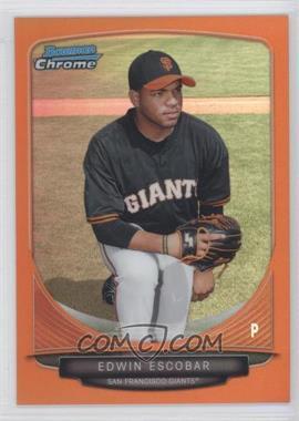 2013 Bowman Chrome - Prospects - Orange Refractor #BCP117 - Edwin Escobar /25