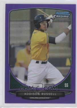 2013 Bowman Chrome - Prospects - Purple Refractor #BCP113 - Addison Russell /199