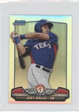 2013 Bowman Chrome - Risin' thru the Ranks Refractor #RTR-JG - Joey Gallo