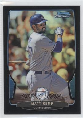 2013 Bowman Chrome Black Refractor #66 - Matt Kemp /15